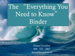 The Everything You Need To Know Binder