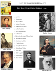 List of Famous Naturalists